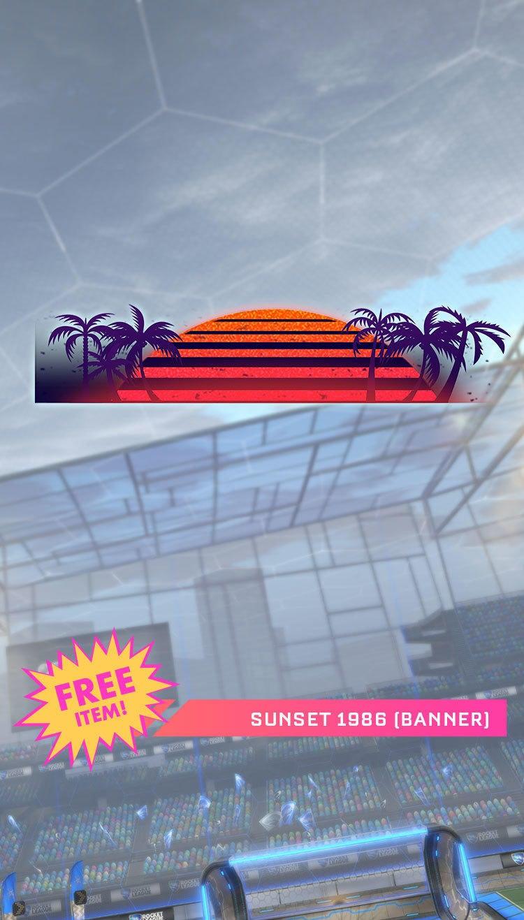 Sunset 1986 Banner