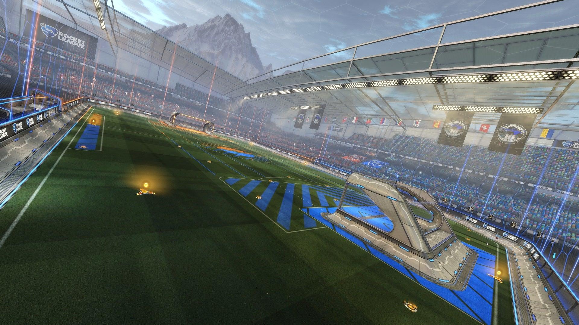 Visión general del nuevo mapa de Rocket League, 'Throwback Stadium'