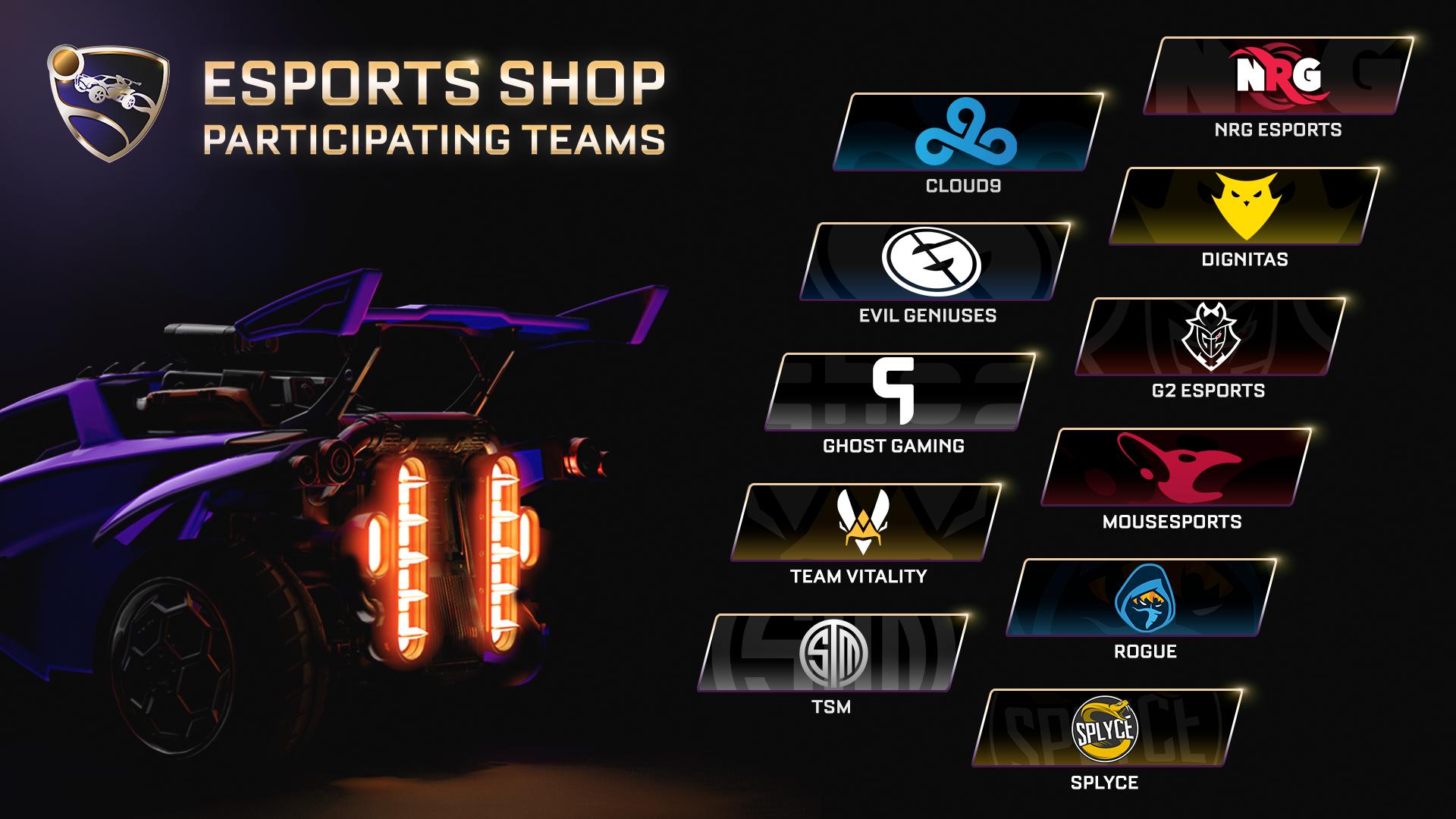 949ee898e The Esports Shop: A Closer Look | Rocket League® - Official Site