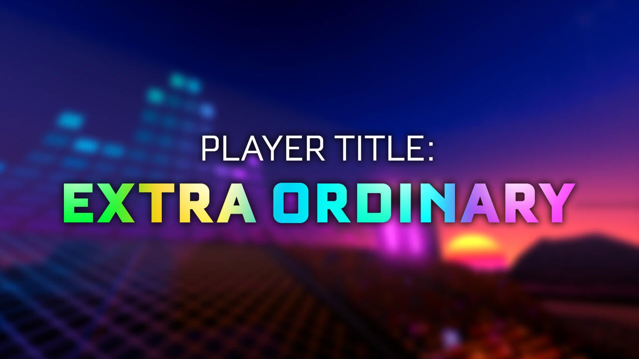 Extra Ordinary Player Title