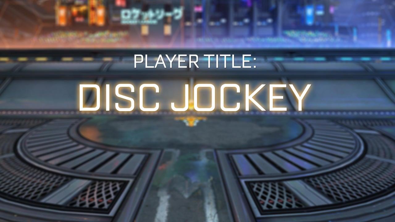 Disc Jockey Title