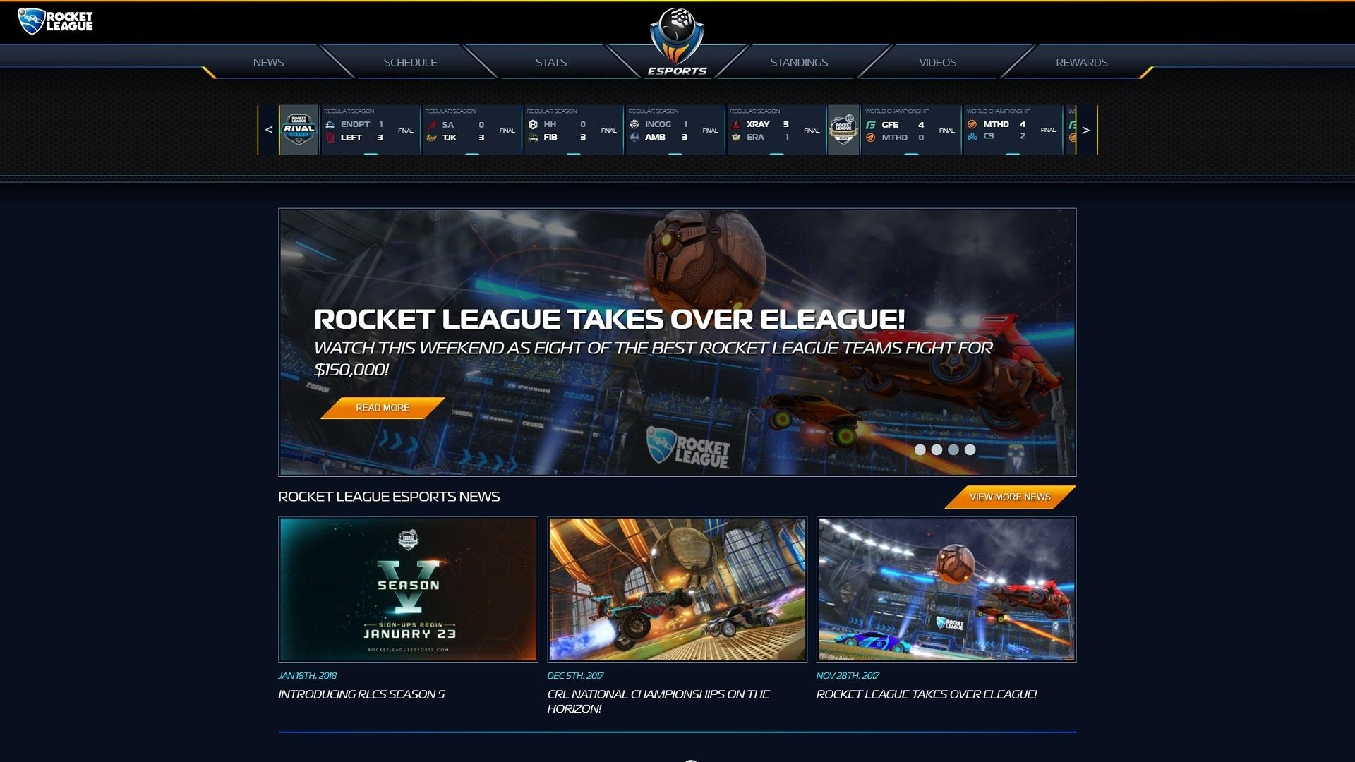 Our New Rocket League Esports Website is Here! Image