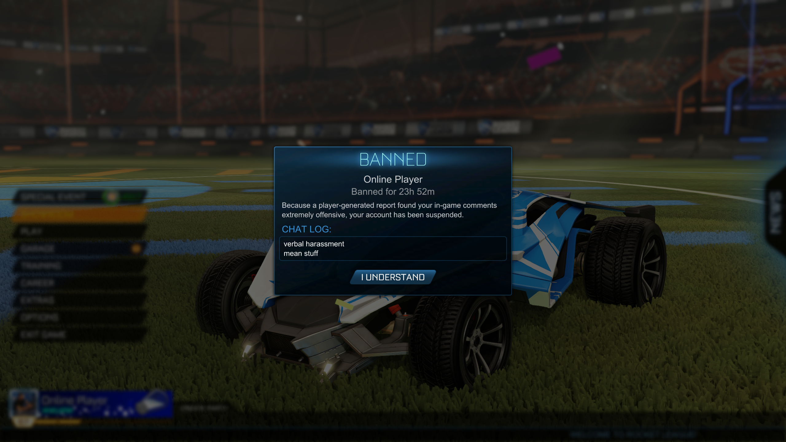 Banned from matchmaking for 9 minutes