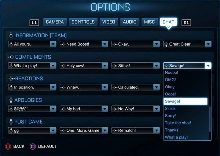 We're Expanding Your Quick Chat Options | Rocket League® - Official Site
