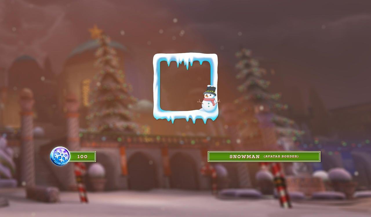 Snowman Avatar Border