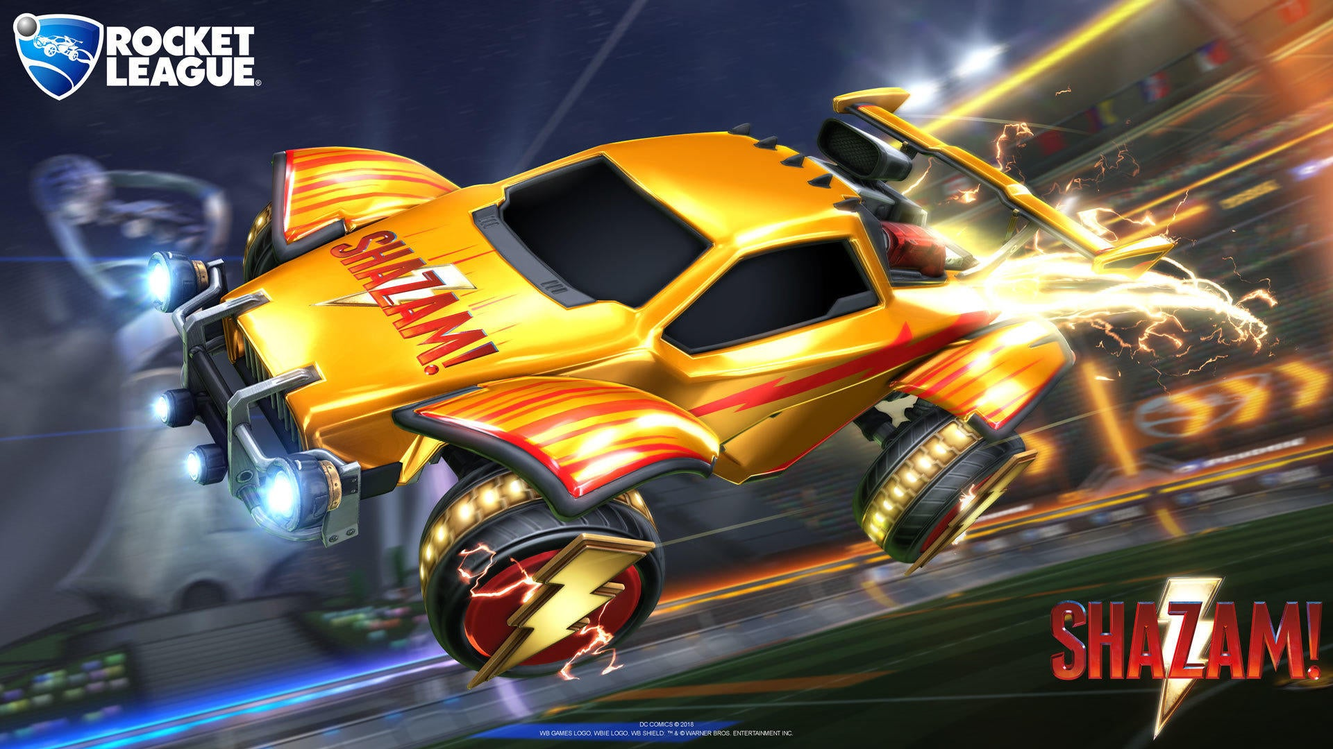 Shazam Items Soar Into Rocket League  Image