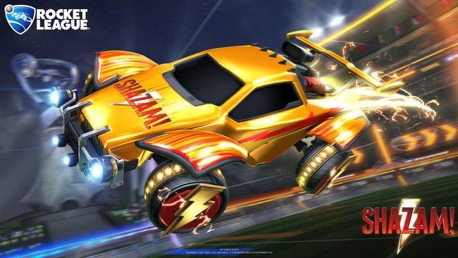 Shazam Hero Image with Logos