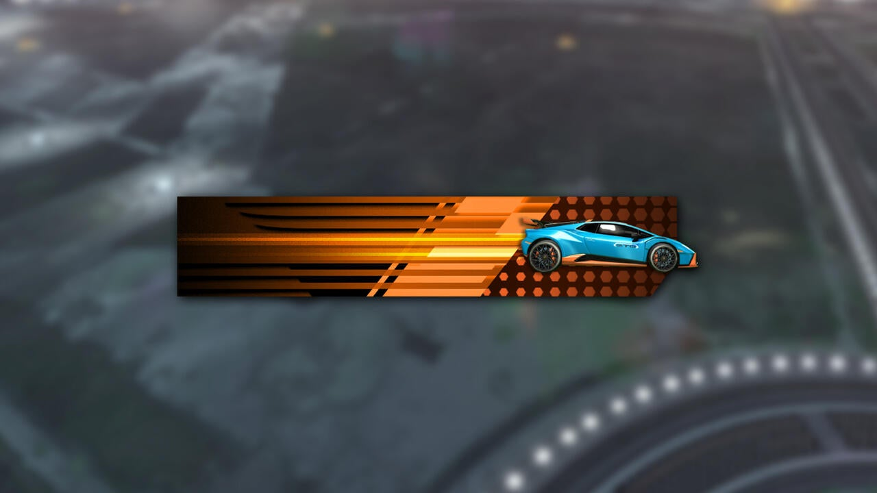 Lamborghini Huracán STO Player Banner