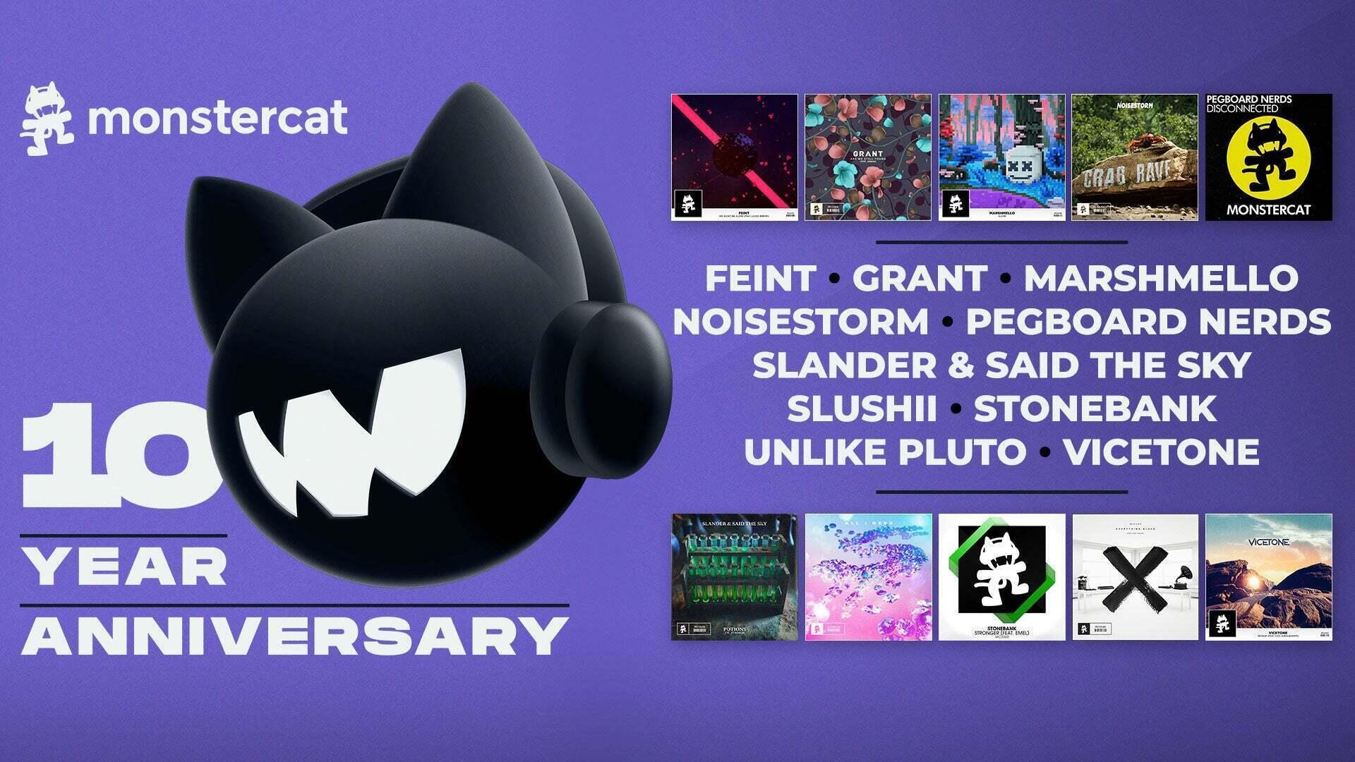 Rocket League Celebrates Monstercat's 10 Year Anniversary Image